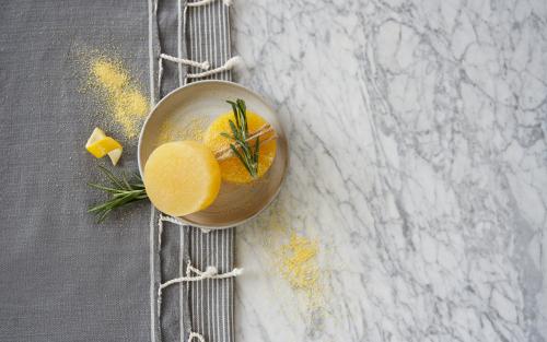 Rosemary-Lemon-Sage soap with cornmeal www.EssentialOils4Sale.com