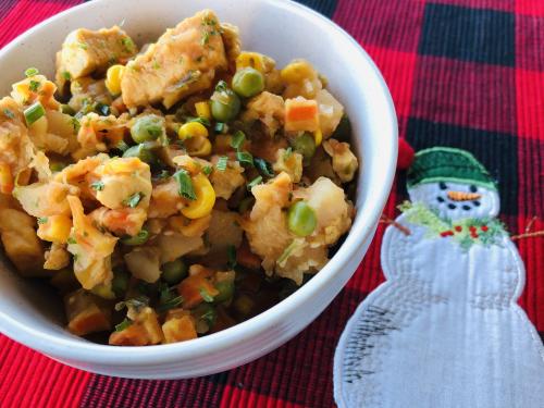 Chicken  Veggie and Potato Stew from www.HealthyEasyFood.com
