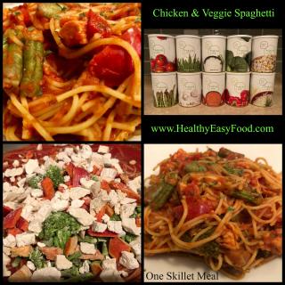 Chicken and Veggie Spaghetti www.HealthyEasyFood.com