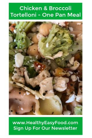 Chicken and Broccoli Tortelloni www.HealthyEasyFood.com
