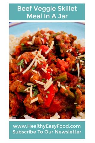 Beef Veggie Skillet Meal In A Jar www.HealthyEasyFood.com