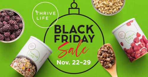 Thrive Life Black Friday Sale www.HealthyEasyFood.com