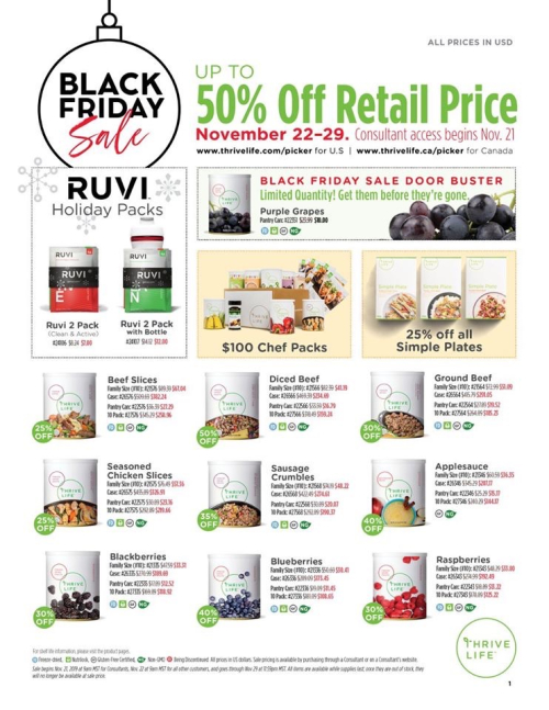 Thrive Life Black Friday Sales Page 1 www.HealthyEasyFood.com