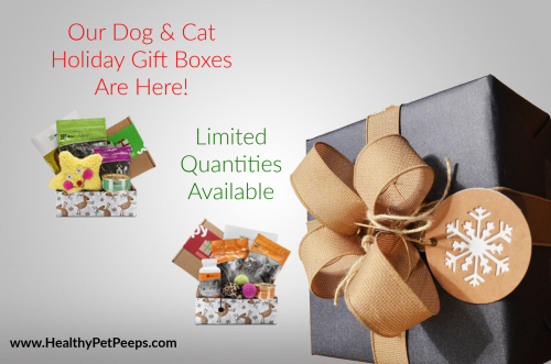 Dog and Cat Holiday Gift Boxes www.HealthyPetPeeps.com
