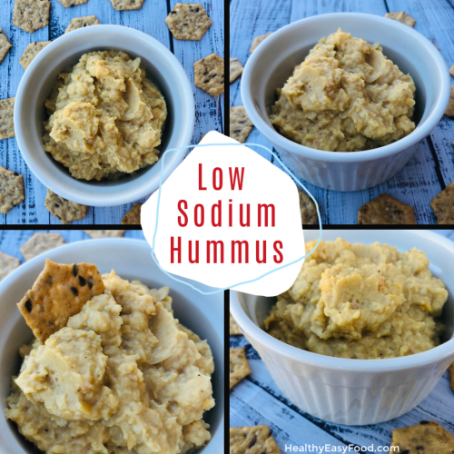 Low Sodium Hummus www.HealthyEasyFood.com