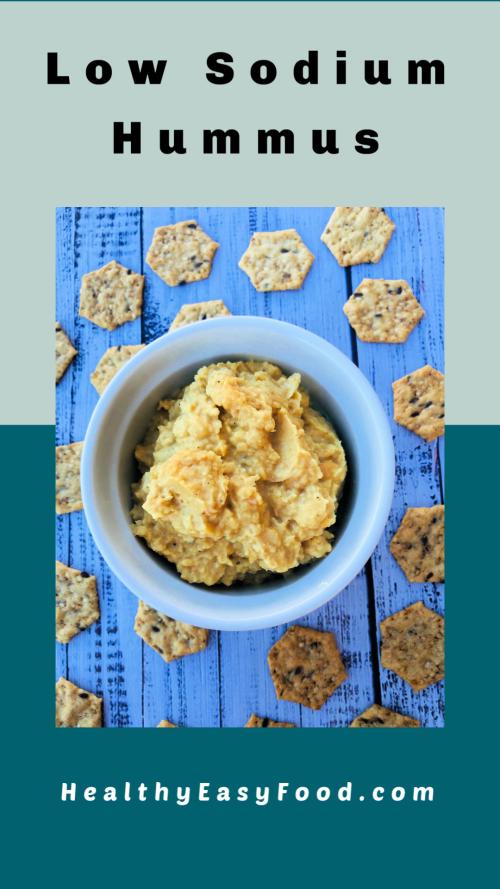 Low Sodium Hummus from HealthyEasyFood.com