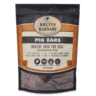 Brutus and Barnaby 12 count Pigs Ears Recalled www.HealthyPetPeeps.com