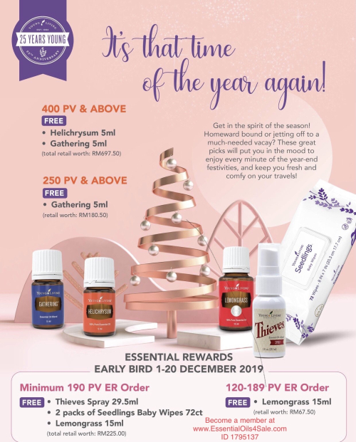 Young Living Malaysia December promos www.EssentialOils4Sale.com