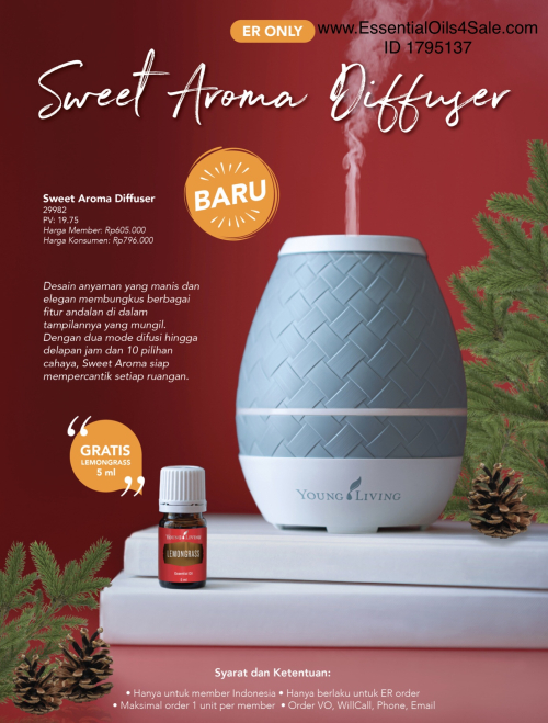 Sweet Aroma Diffuser Special for Indonesia www.EssentialOils4Sale.com