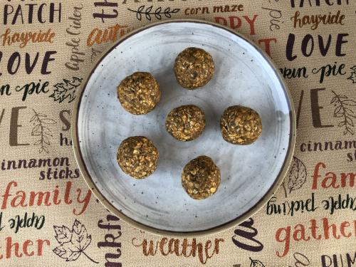 Pumpkin Protein Balls www.HealthyPetPeeps.com