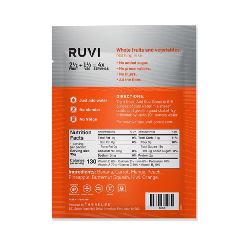 Thrive Ruvi Blend Ingredients www.HealthyEasyFood.com