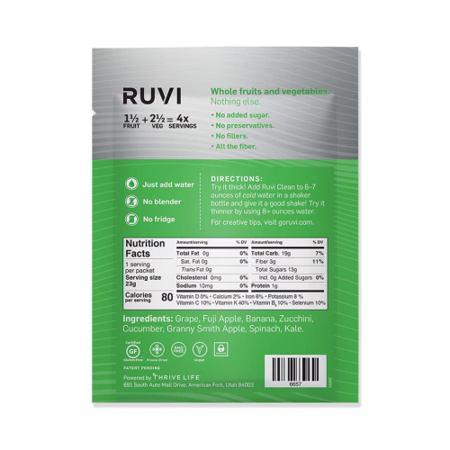 Thrive Ruvi Clean Ingredients www.HealthyEasyFood.com