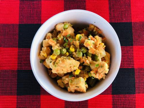 Chicken Veggie and Potato Stew www.HealthyEasyFood.com