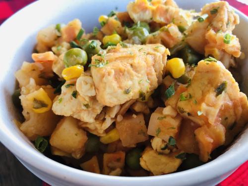 Recipe for Chicken  Veggie and Potato Stew www.HealthyEasyFood.com