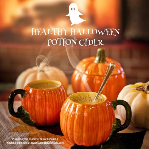 Healthy Halloween Potion Cider www.EssentialOils4Sale.com