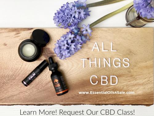 Subscribe to our CBD oil class www.EssentialOils4Sale.com