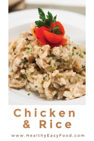 Chicken And Rice Recipe www.HealthyEasyFood.com