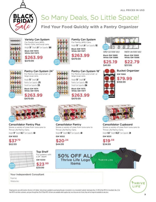 Thrive Life Black Friday Sales Page 3 www.HealthyEasyFood.com
