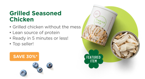 Thrive grilled chicken slices www.HealthyEasyFood.com