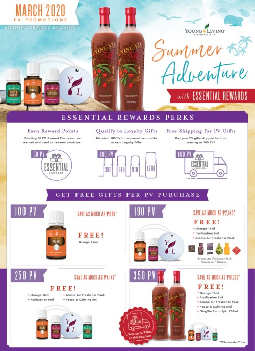 Young Living Philippines Essential Rewards www.EssentialOils4Sale.com