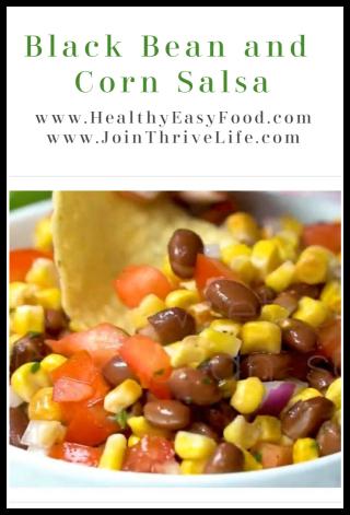 Black Bean and Corn Salsa Recipe www.HealthyEasyFood.com