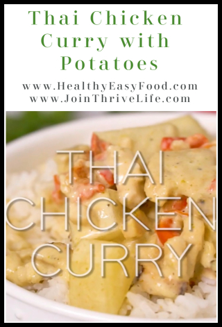 Thai Chicken Curry with Potatoes www.HealthyEasyFood.com