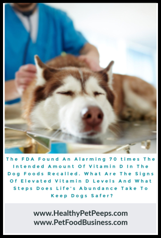 Life's Abundance is not involved in this recall or any others www.HealthyPetPeeps.com