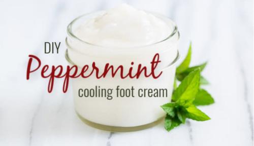 DIY Peppermint Foot Cream www.EssentialOils4Sale.com
