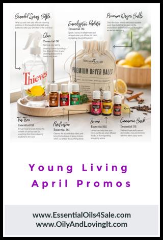 Young Living April Promos - www.EssentialOils4Sale.com