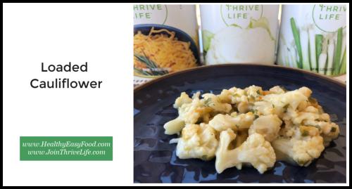Loaded Cauliflower www.HealthyEasyFood.com