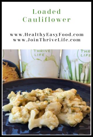 Loaded Cauliflower - www.HealthyEasyFood.com
