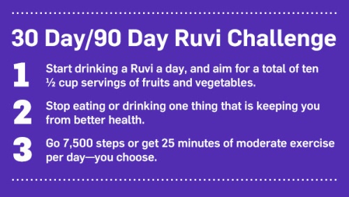 The Ruvi Challenge www.HealthyEasyFood.com