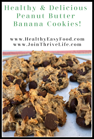 Healthy And Delicious Peanut Butter Banana Cookies - www.HealthyEasyFood.com