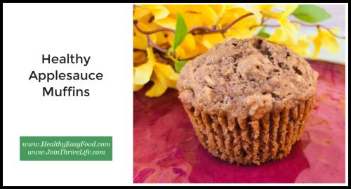 Healthy Applesauce Muffins www.HealthyEasyFood.com