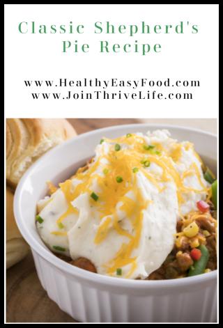 Classic Shepherd's Pie Recipe - www.HealthyEasyFood.com