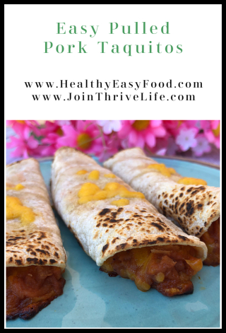 Easy Pulled Pork Taquitos - www.HealthyEasyFood.com