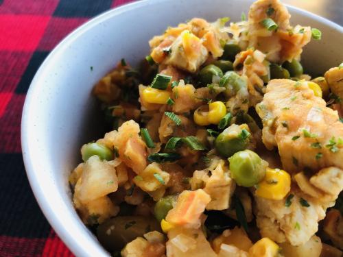 Chicken  Veggie and Potato Stew Recipe from www.HealthyEasyFood.com