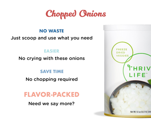 Thrive Life Chopped Onions www.HealthyEasyFood.com