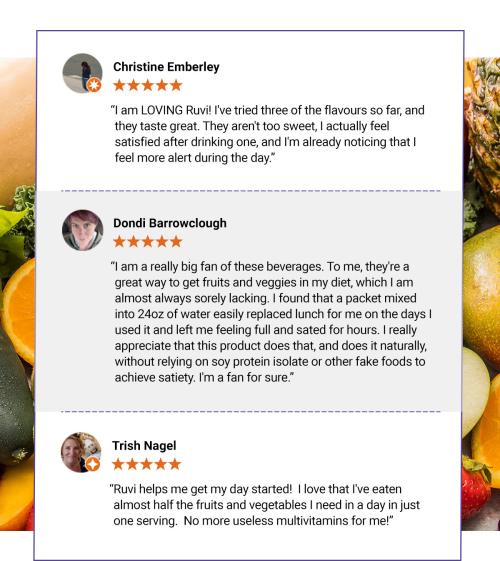 Thrive Ruvi Drink testimonials www.HealthyEasyFood.com