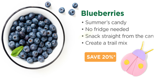 Thrive freeze dried blueberries www.HealthyEasyFood.com