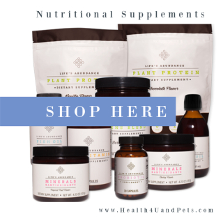 Shop for Nutritional Supplements www.Health4UandPets.com