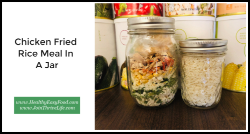 Chicken Fried Rice Meal In A Jar www.HealthyEasyFood.com