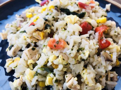 Chicken Fried Rice Meals In A Jar www.HealthyEasyFood.com