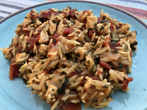 Recipe for One Pot Italian Chicken Orzo www.HealthyEasyFood.com