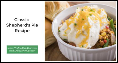Classic Shepherd's Pie Recipe www.HealthyEasyFood.com