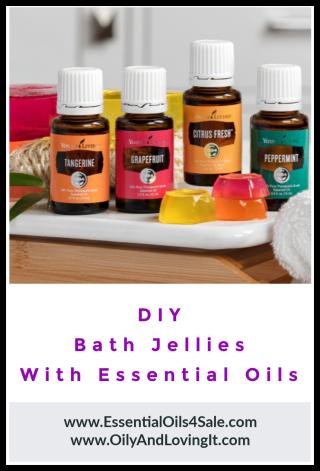 DIY Bath Jellies with Essential Oils - www.EssentialOils4Sale.com