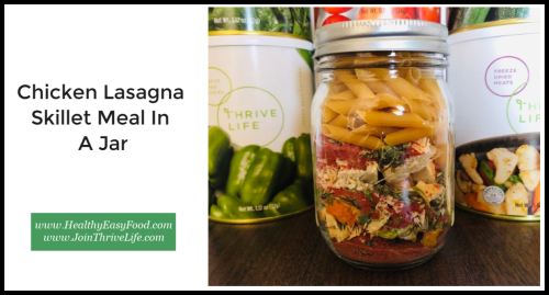 Chicken Lasagna Skillet Meal In A Jar www.HealthyEasyFood.com