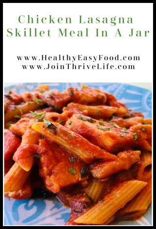 Chicken Lasagna Meal In A Jar Recipe - www.HealthyEasyFood.com