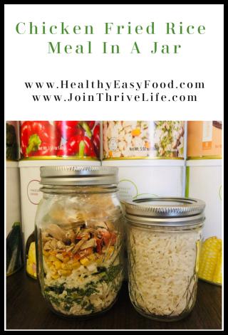 Chicken Fried Rice Meal In A Jar Recipe - www.HealthyEasyFood.com