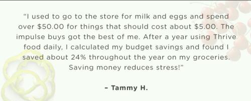 How Thrive Life customers are saving www.HealthyEasyFood.com